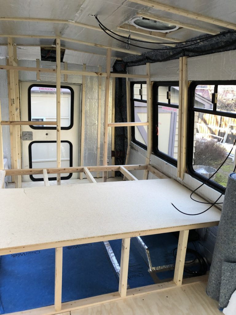 Shuttle bus insulation is done